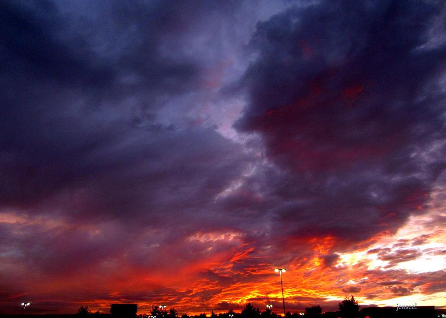 Firey Sky Photograph