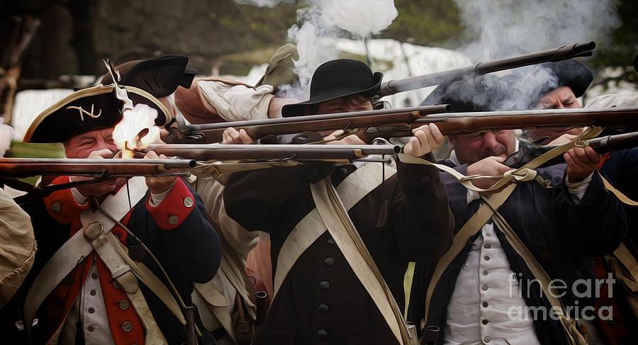 Firing Line Revolutionaries Photograph
