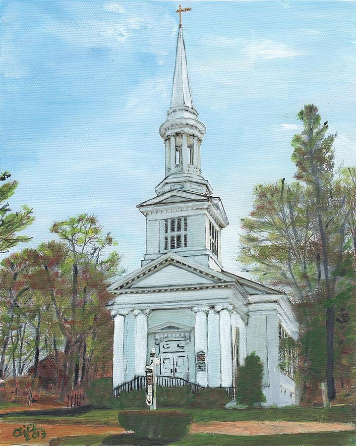 First Church Sandwich Ma Painting By Cliff Wilson