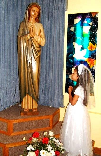 First Communion---greeting Cards Photograph