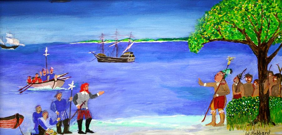 1503 Painting - First Encounter by Bill Hubbard