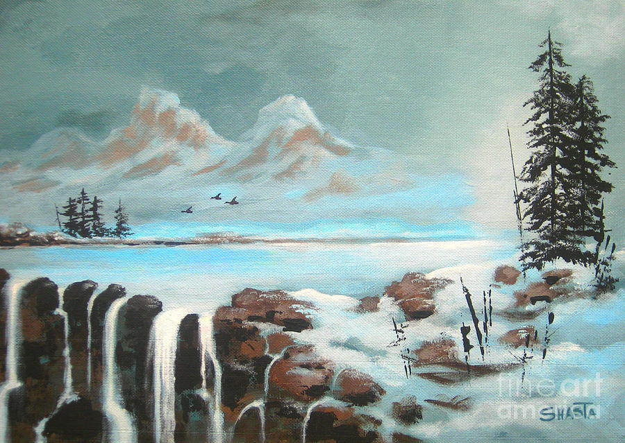 Landscape Painting - First  Freeze  by Shasta Eone