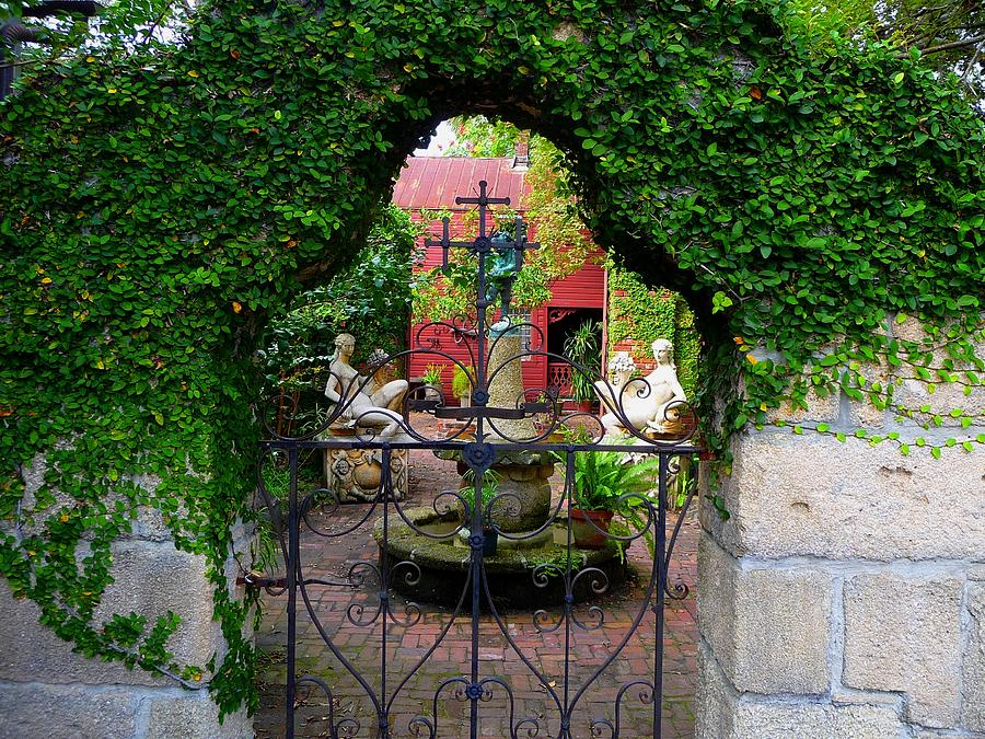 Old Saint Augustine Village Photograph - First Gate by Phil King