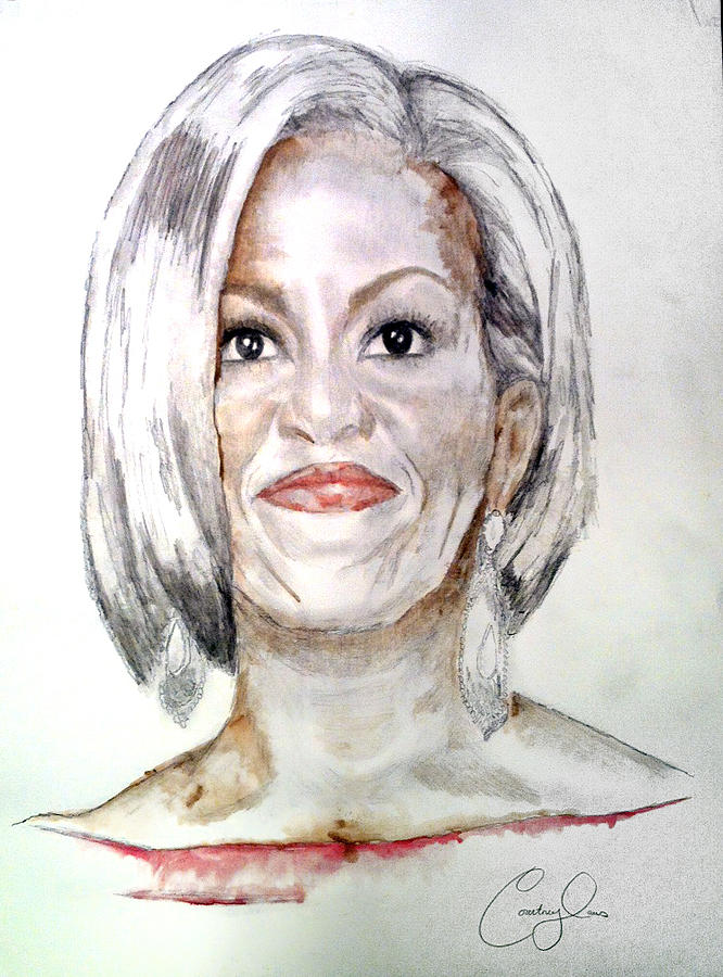 First Lady O Painting  - First Lady O Fine Art Print