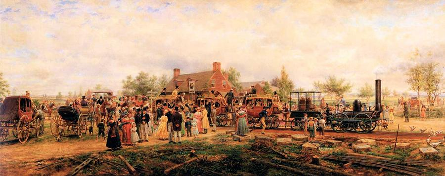 First Railroad Train On The Mohawk And Hudson Digital Art