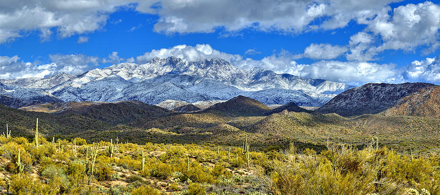 First Snow On Four Peaks Photograph