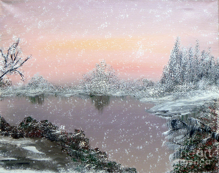 First Snowfall Painting  - First Snowfall Fine Art Print
