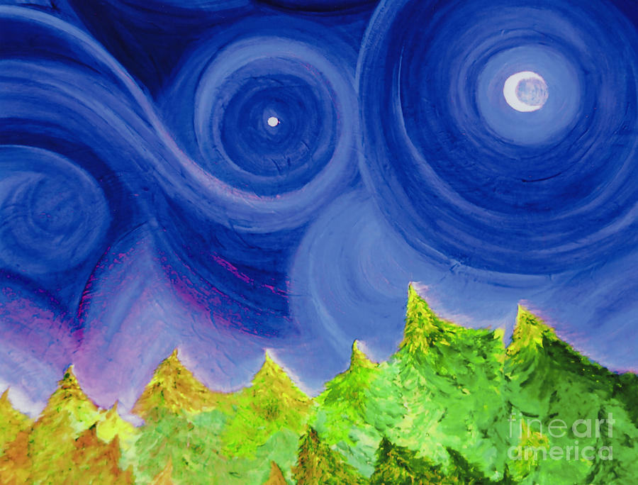 First Star By  Jrr Painting  - First Star By  Jrr Fine Art Print