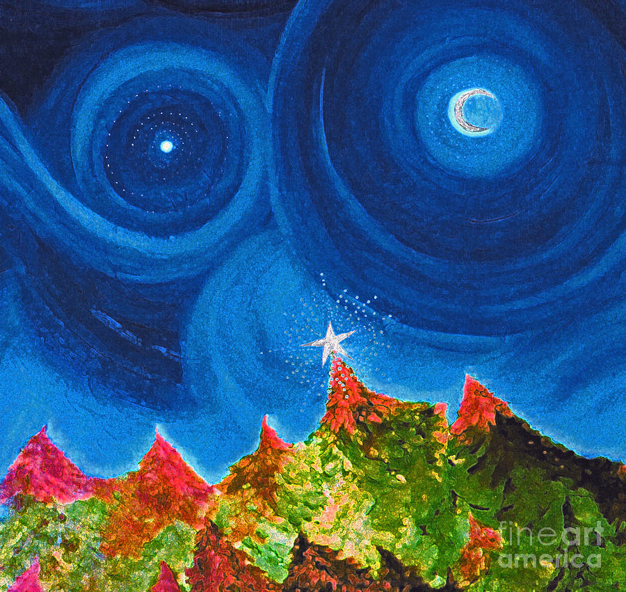 First Star Christmas Wish By Jrr Painting