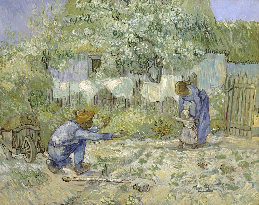 First Steps Van Gogh Digital Art  - First Steps Van Gogh Fine Art Print