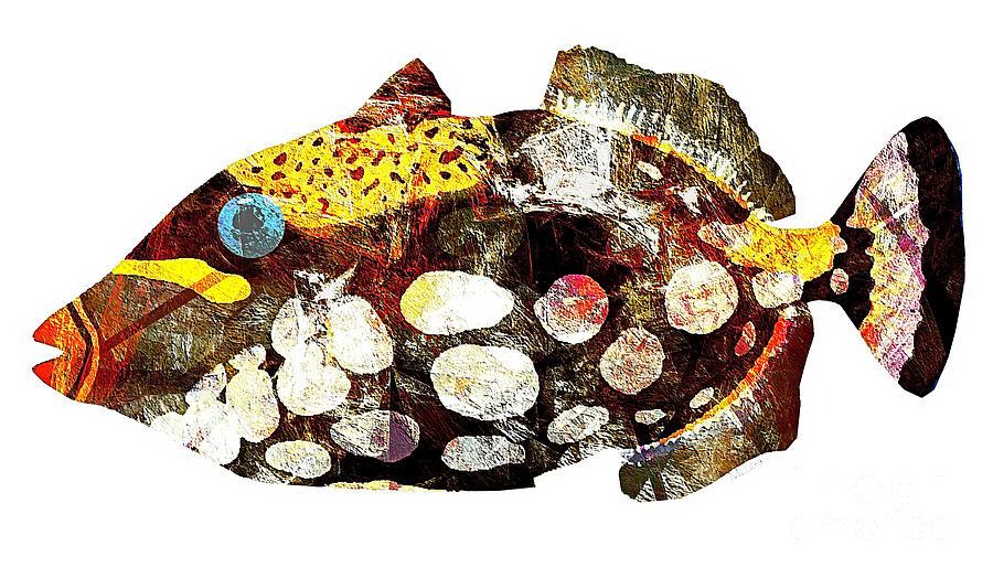 Abstract Digital Art - Fish 504-11-13 Marucii by Marek Lutek