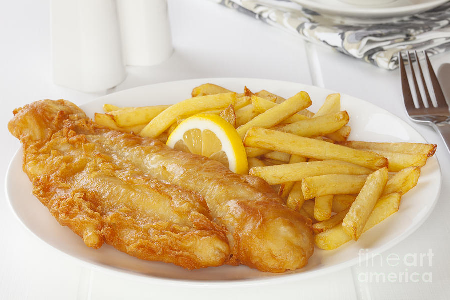 Fish And Chips Photograph