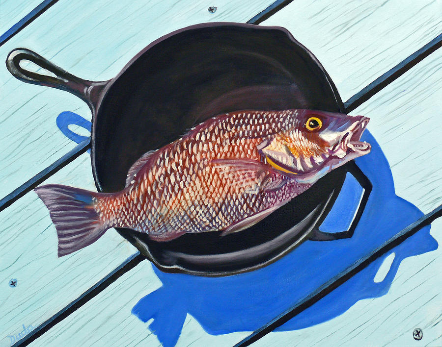 Fish fry painting by susan duda for Susan s fish and chips