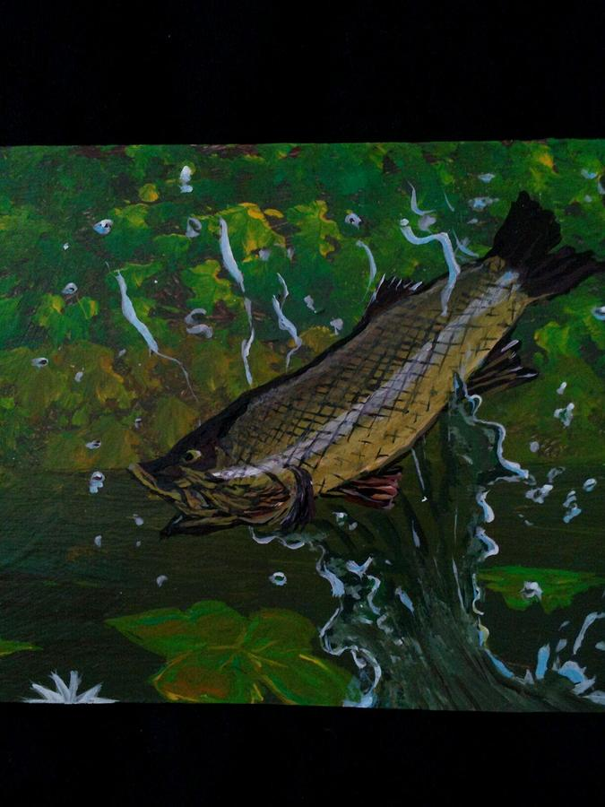 Fish out of water painting by dave goodwin for Fish out of water watercolor