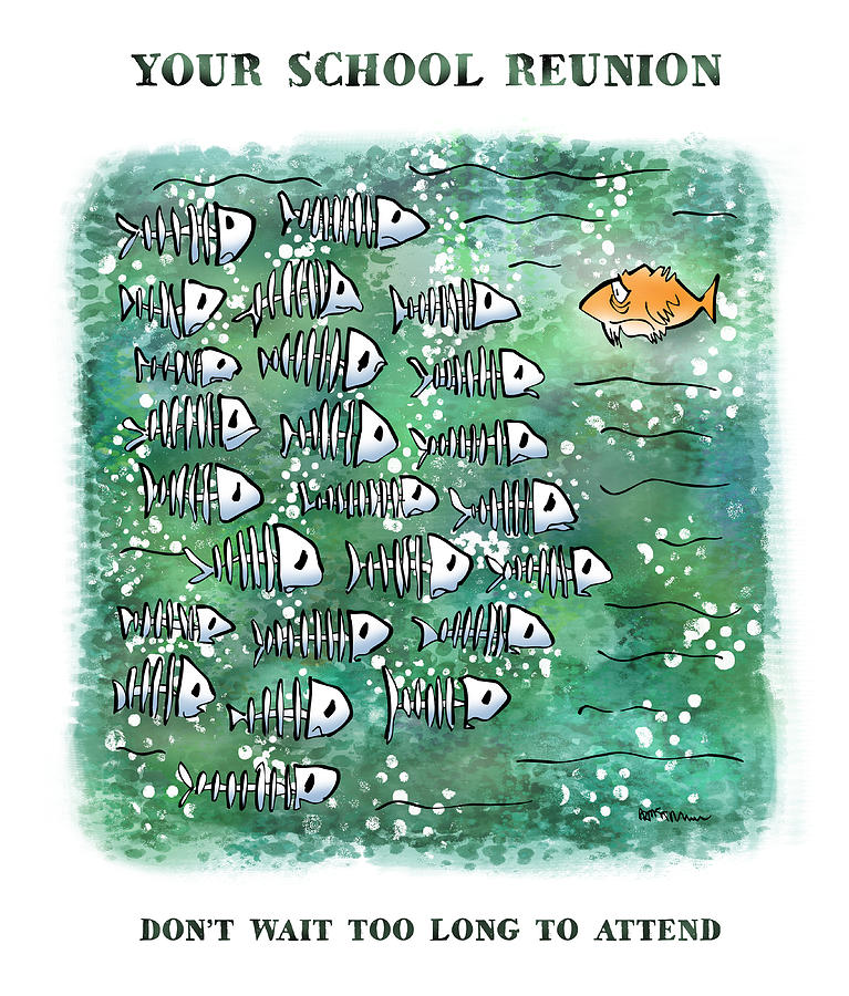 Fish School Reunion Digital Art
