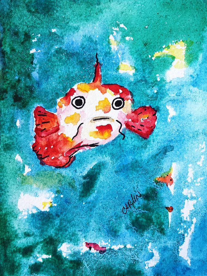 Fish Traveler - Abstract Painting  - Fish Traveler - Abstract Fine Art Print