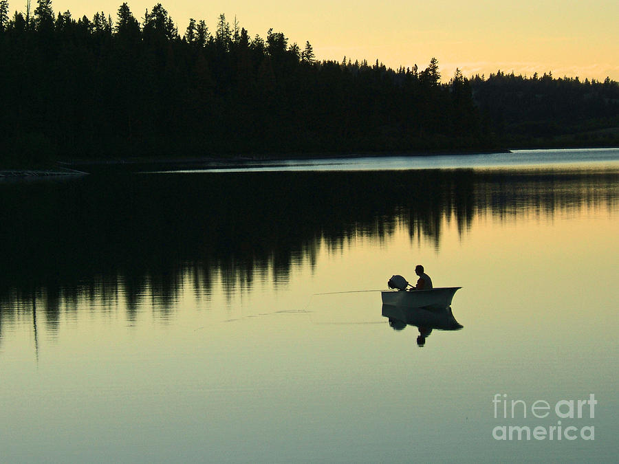 Fisherman At Dusk Photograph