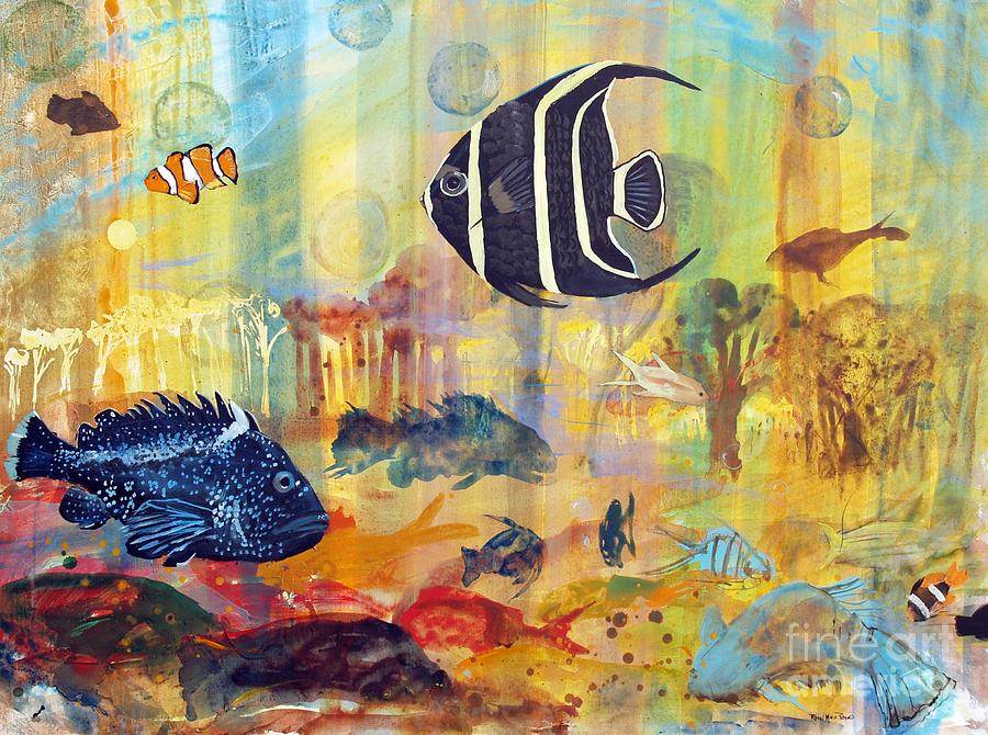 Fishes Painting  - Fishes Fine Art Print