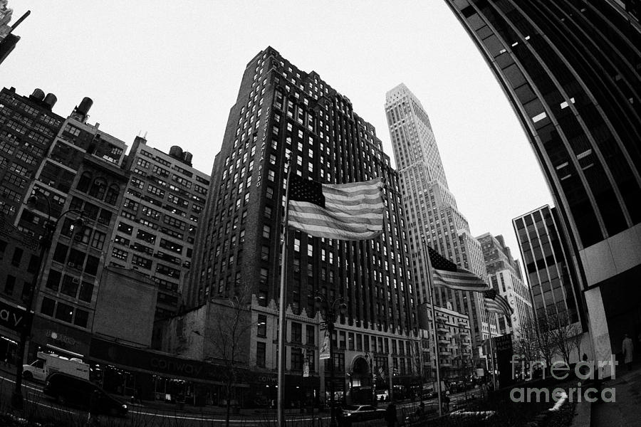 Fisheye View Of 34th Street From 1 Penn Plaza New York City Photograph
