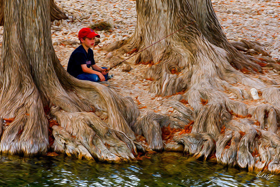 Fishing Among The Cypress Photograph  - Fishing Among The Cypress Fine Art Print