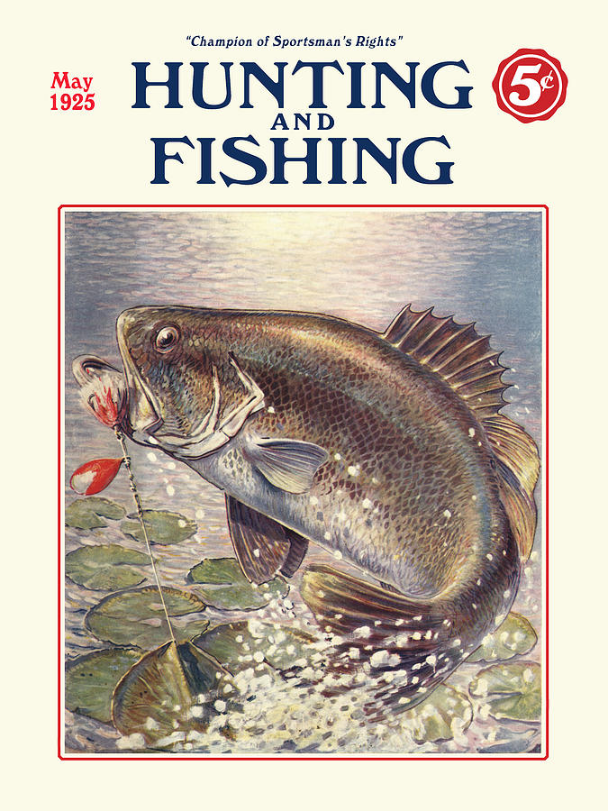 fishing and hunting magazine digital art by gary grayson