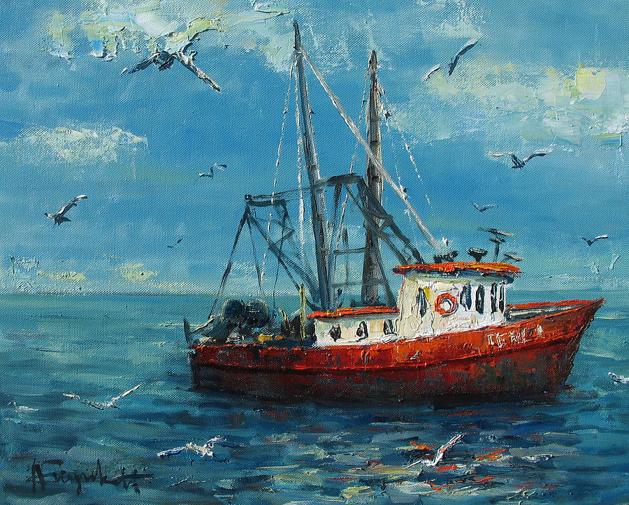 fishing boat painting by alexei biryukoff ForFishing Boat Painting