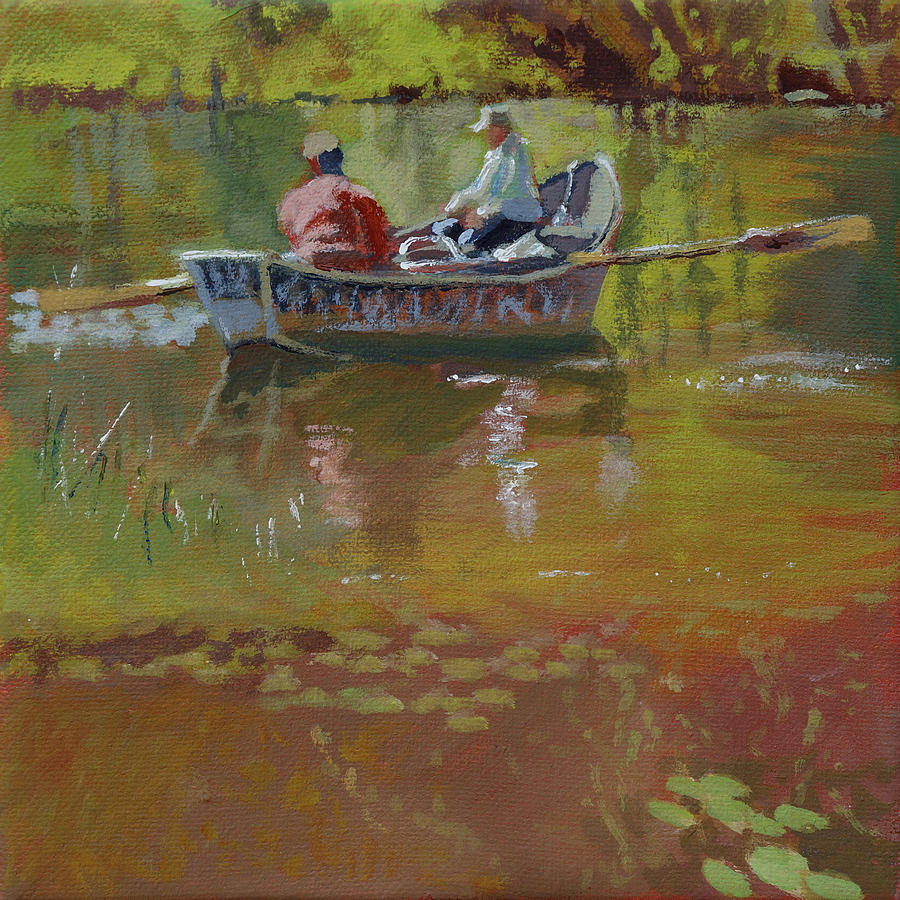 Fishing boat painting by robert bissett for Fishing boat painting