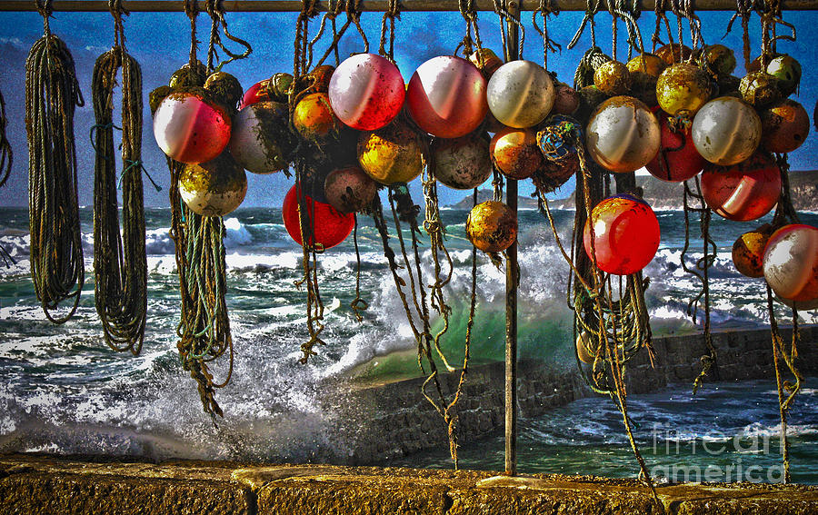 Fishing Buoys Photograph  - Fishing Buoys Fine Art Print