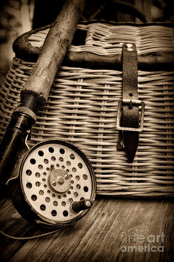Fishing - Fly Fishing - Black And White Photograph