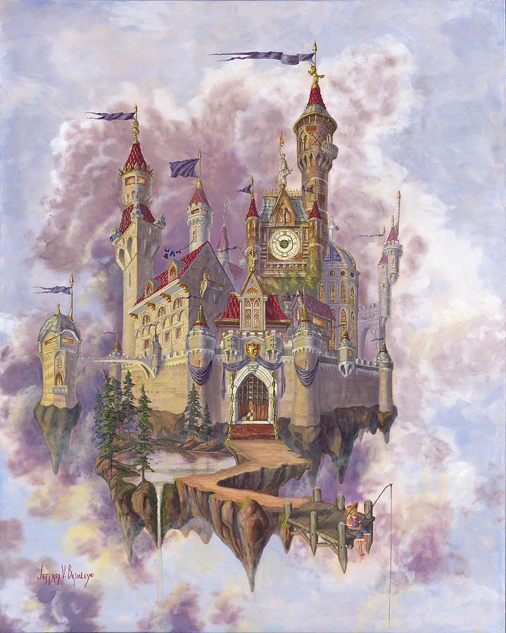 Castle Painting - Fishing For Ideas by Jeff Brimley