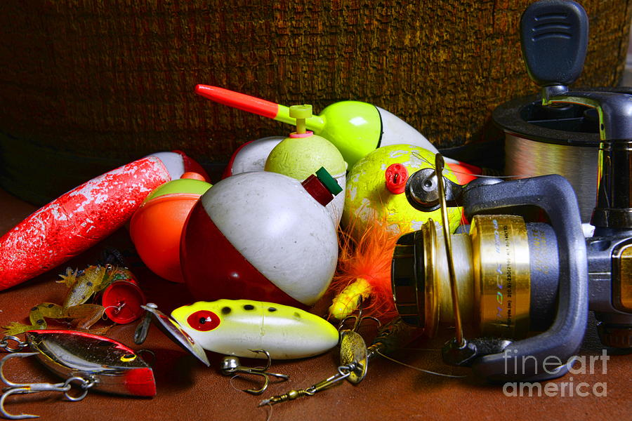 Fishing - Freshwater Tackle Photograph  - Fishing - Freshwater Tackle Fine Art Print