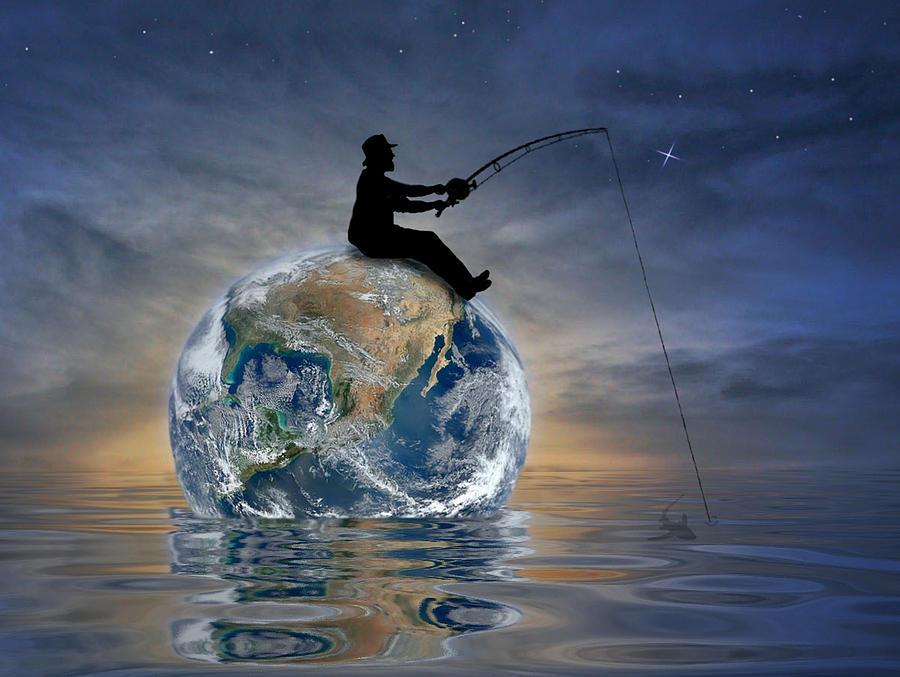 Fishing Is My World Digital Art