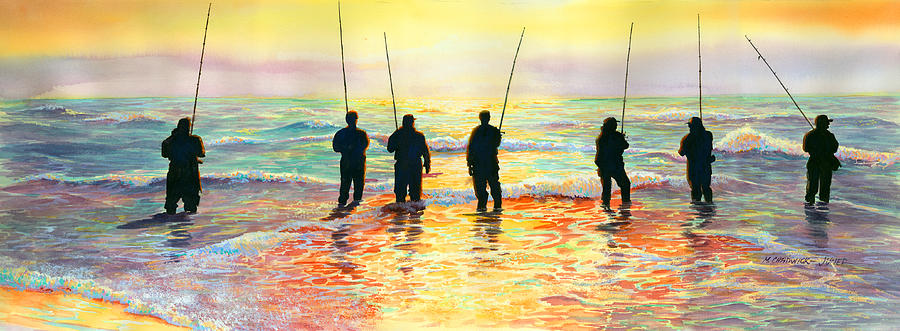Fishing Line Painting  - Fishing Line Fine Art Print