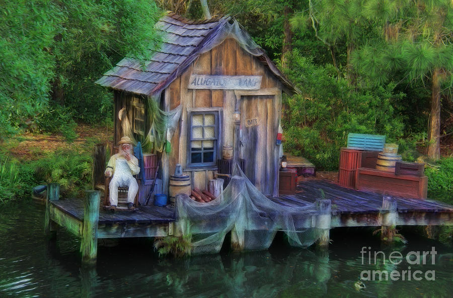 River Photograph - Fishing On The Bayou by Lee Dos Santos