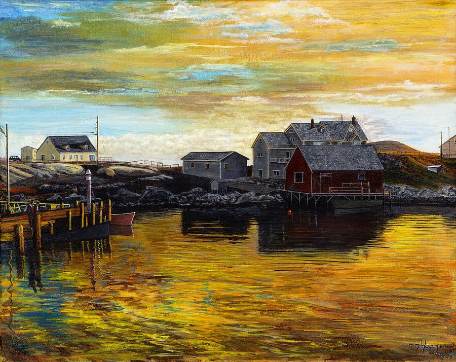Fishing Village Maine  Painting