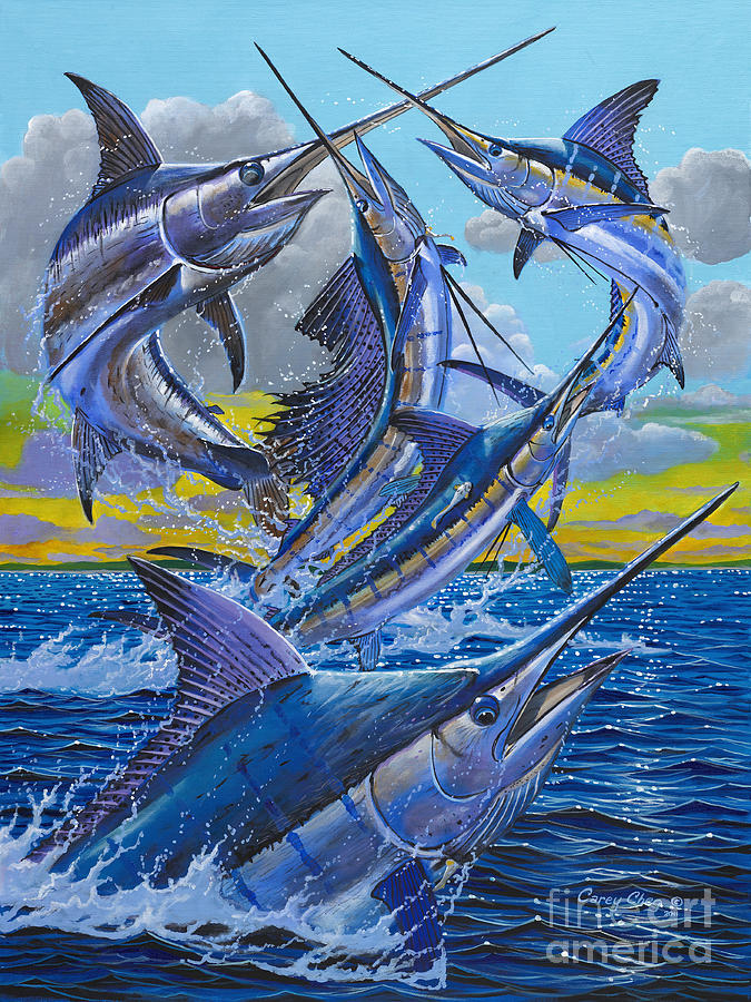 Five Billfish Off00136 Painting