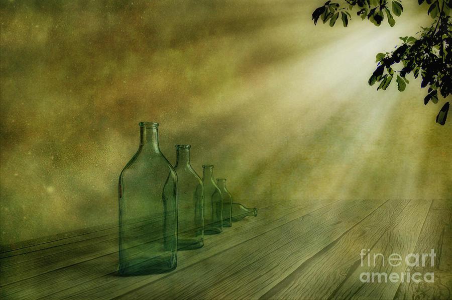 Art Photograph - Five Bottles by Veikko Suikkanen