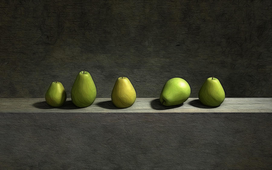 Five Pears Digital Art