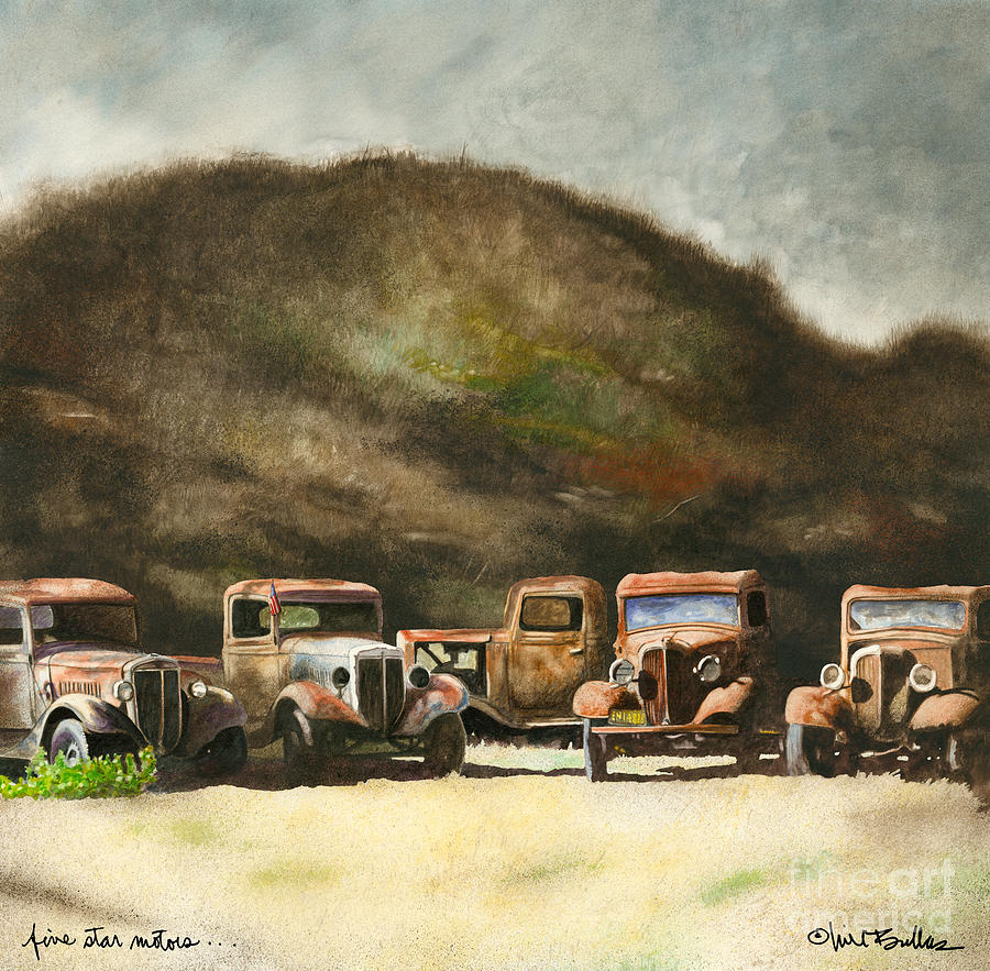 Five Star Motors Painting By Will Bullas