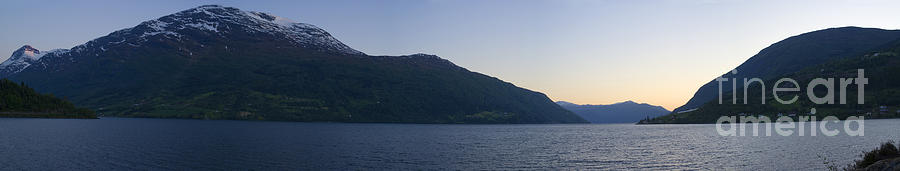 Fjord Sunset Panorama Photograph