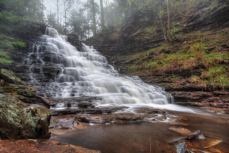 Water Photograph - Fl Ricketts Waterfall by Lori Deiter