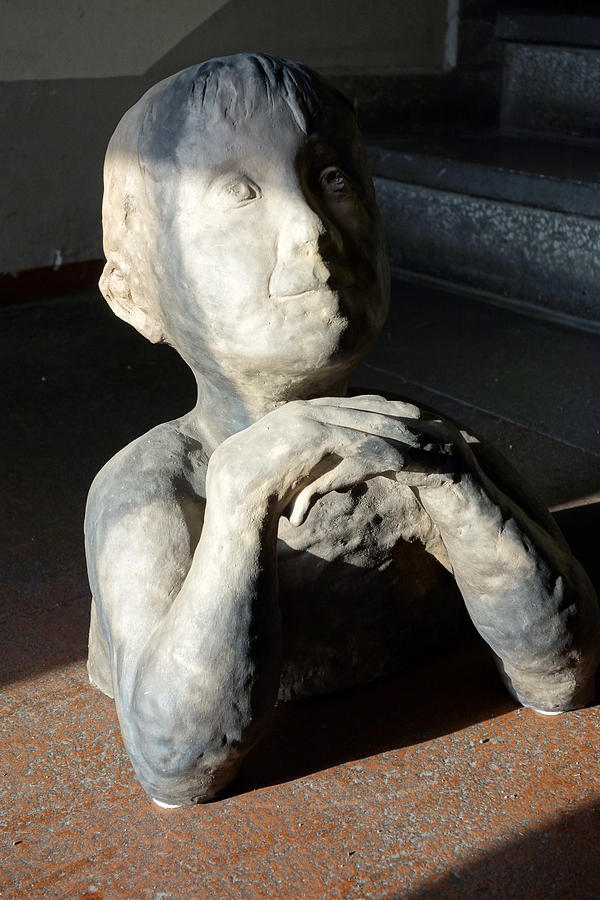 Flabbergasted Young Man  Sculpture