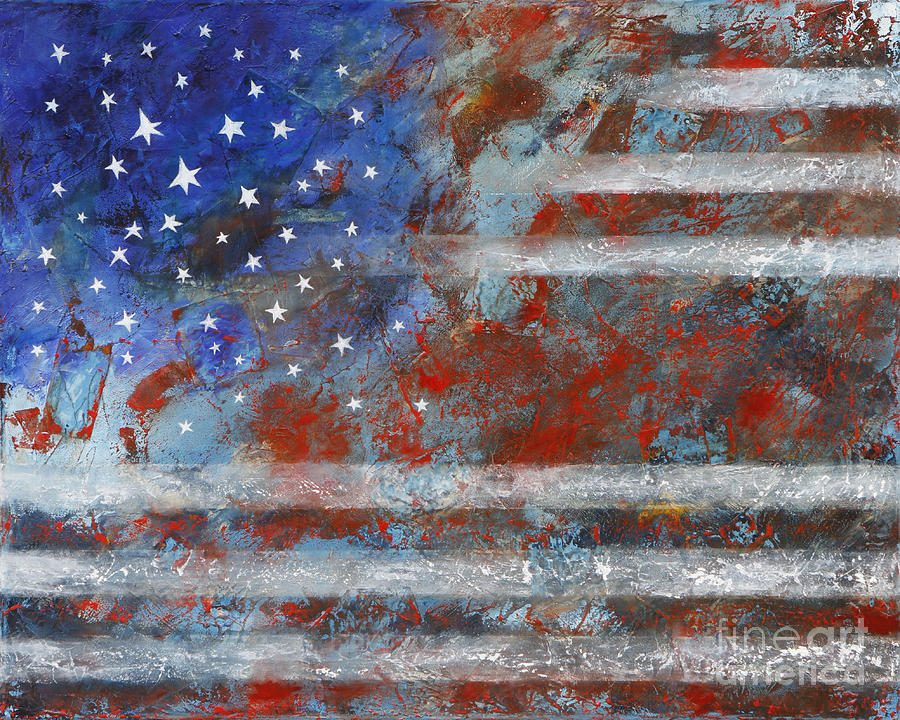 Flag Painting - Flag 2012 by Eva Hoffmann