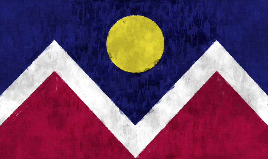 Flag Of Denver Digital Art