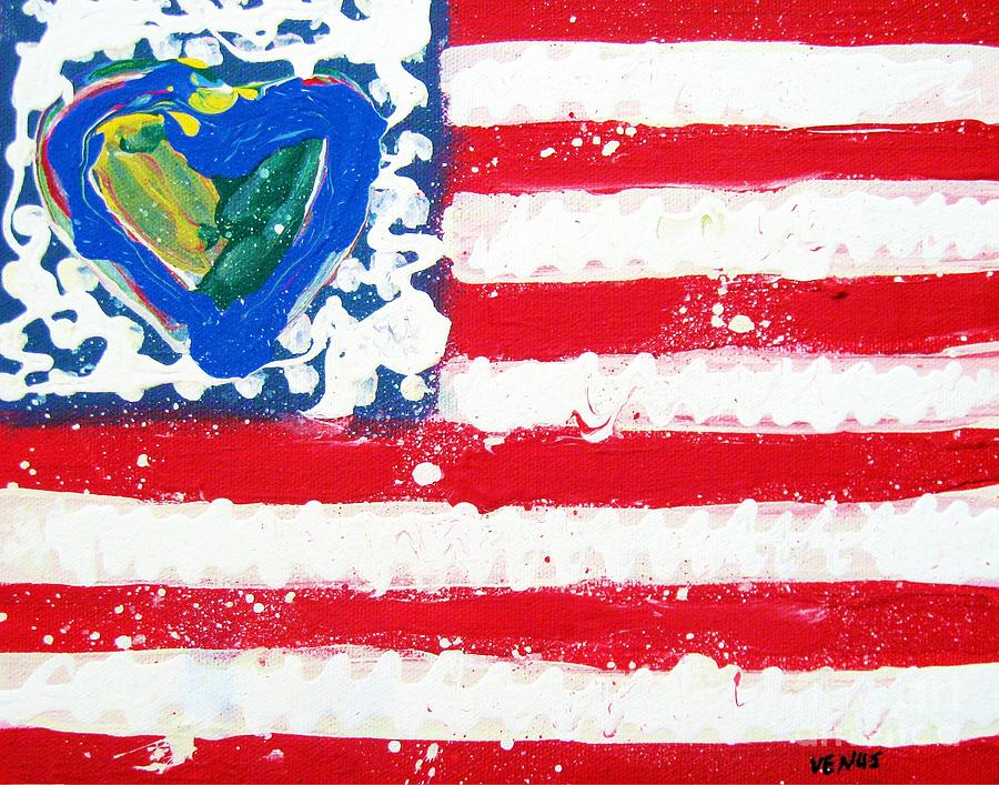 Flag Painting  - Flag Fine Art Print