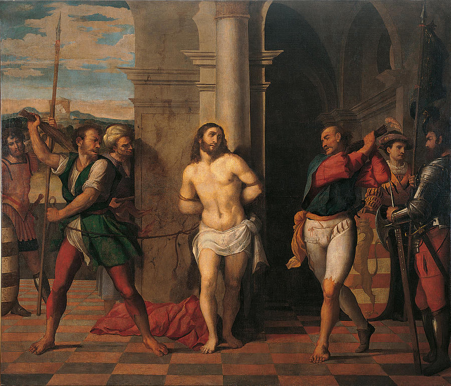 Flagellation Of Christ , By Jacopo Painting