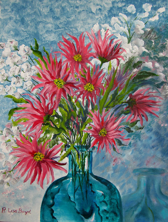 Flambouyant Flowers Painting