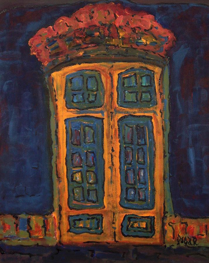 Art Painting - Flamboyant Door by Oscar Penalber