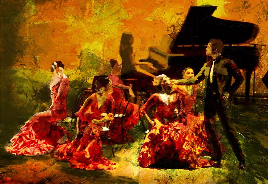 Flamenco Dancer 020 Painting