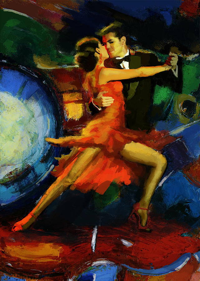 Flamenco Dancer 029 Painting  - Flamenco Dancer 029 Fine Art Print